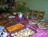 Buffet mit warmen Speisen