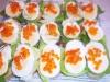 Eier Schnittchen garniert
