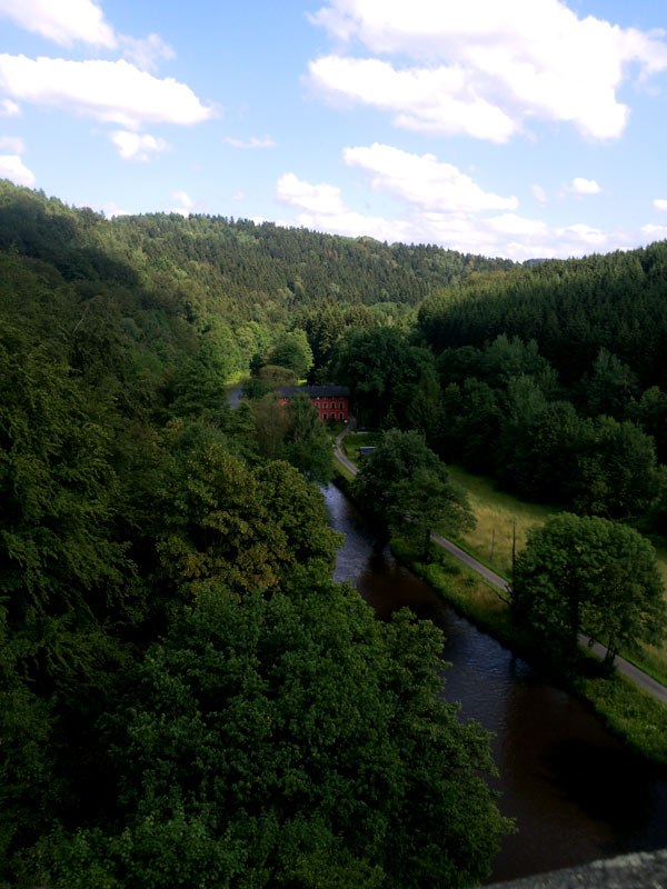 Blick vom Hetzdorfer Viadukt