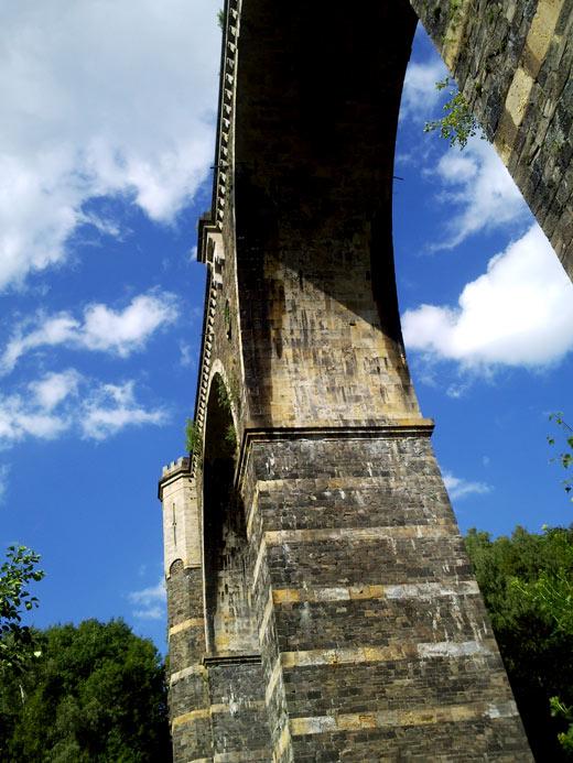 Hetzdorfer Brücke von unten